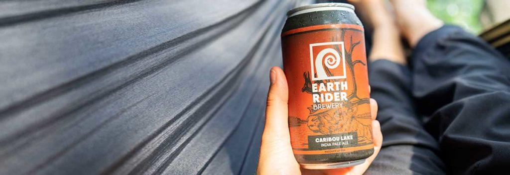Earth Rider Caribou Lake IPA in hammock