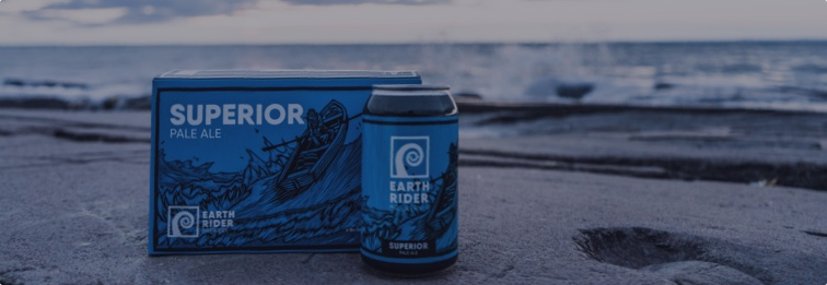 Earth Rider Superior Pale Ale at Lake Superior